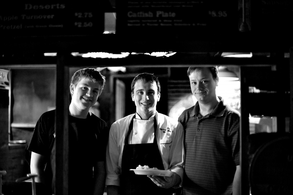 biergarten kitchen staff b  w